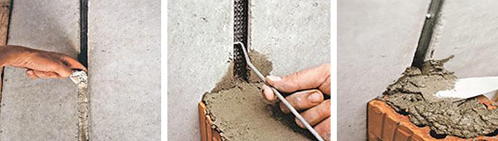 Mauwerka nastavci za spoj betonskog zida i zida od cigle